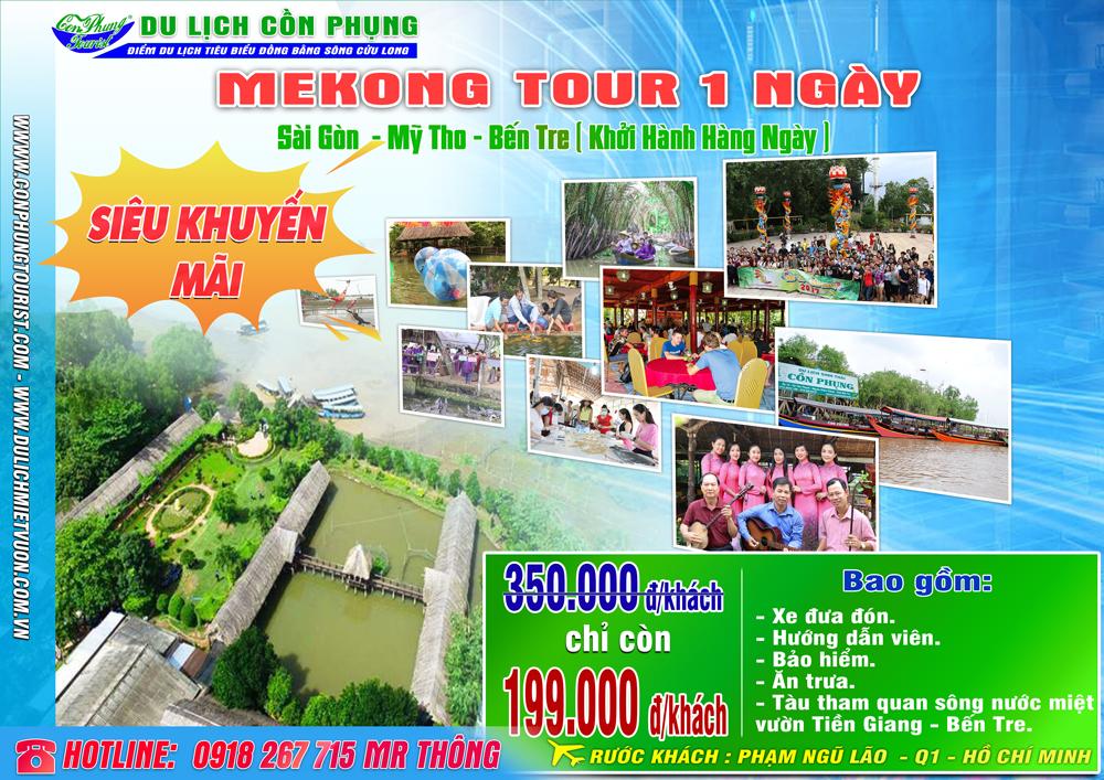 Tour Mekong 1 ngày - Sài Gòn - Tiền Giang - Bến Tre